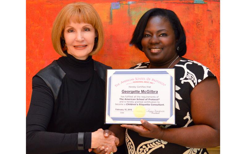 Georgette McGilbra Certified Etiquette Consultant